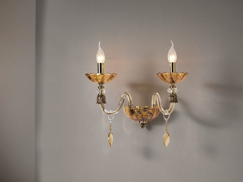 Wall light with crystals BLOOM A2 by Euroluce Lampadari