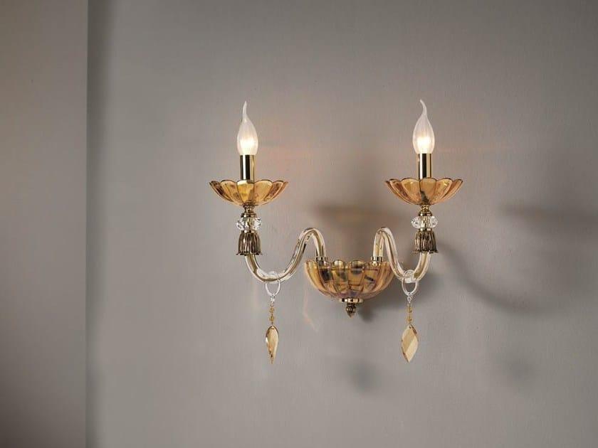 Applique con cristalli bloom a collezione bloom by euroluce lampadari