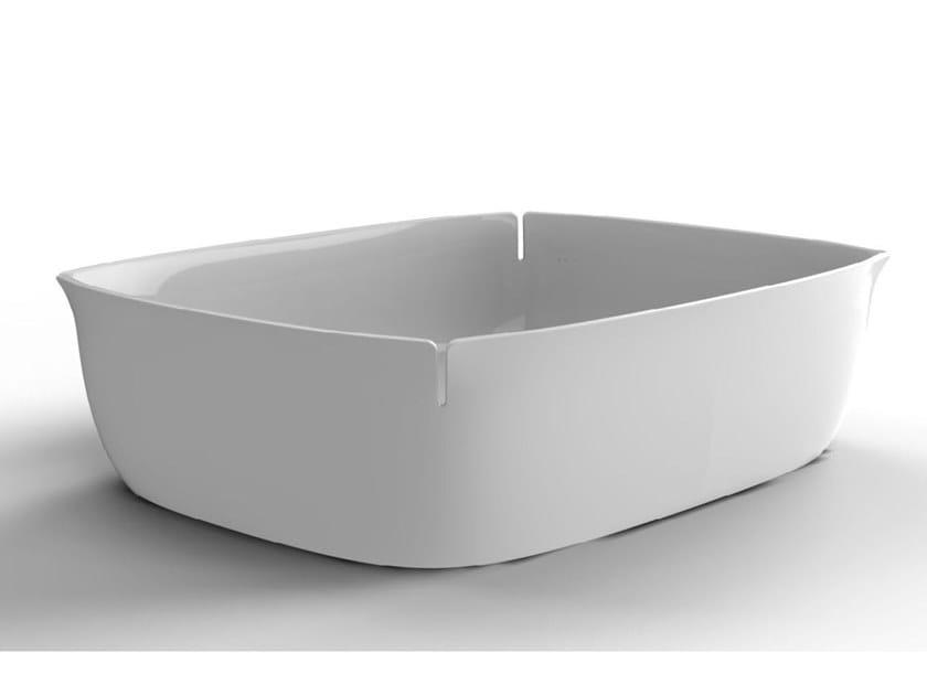 Lavabo da appoggio in Flumood® BLOOM by Antonio Lupi Design
