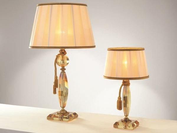 Table lamp with crystals BLOOM LG1 LP1 by Euroluce Lampadari