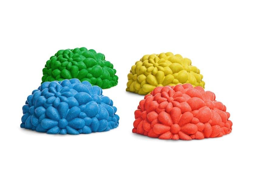 Polyurethane pouf BLOOM by Gufram