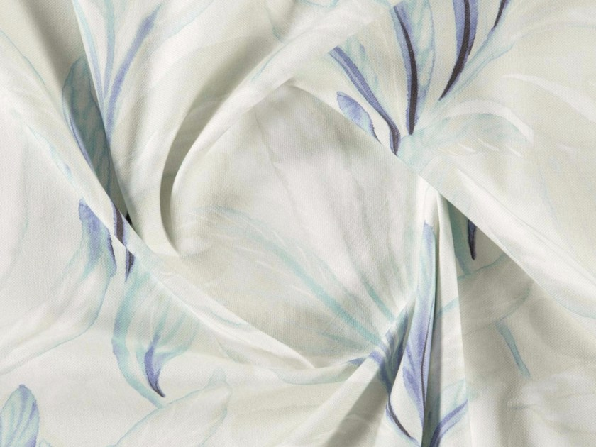 Washable printed cotton fabric with floral pattern AGAVE by More Fabrics