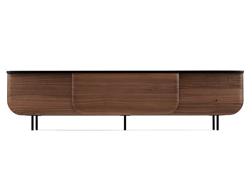 Solid wood sideboard with sliding doors BLOOM | Sideboard by Milla & Milli