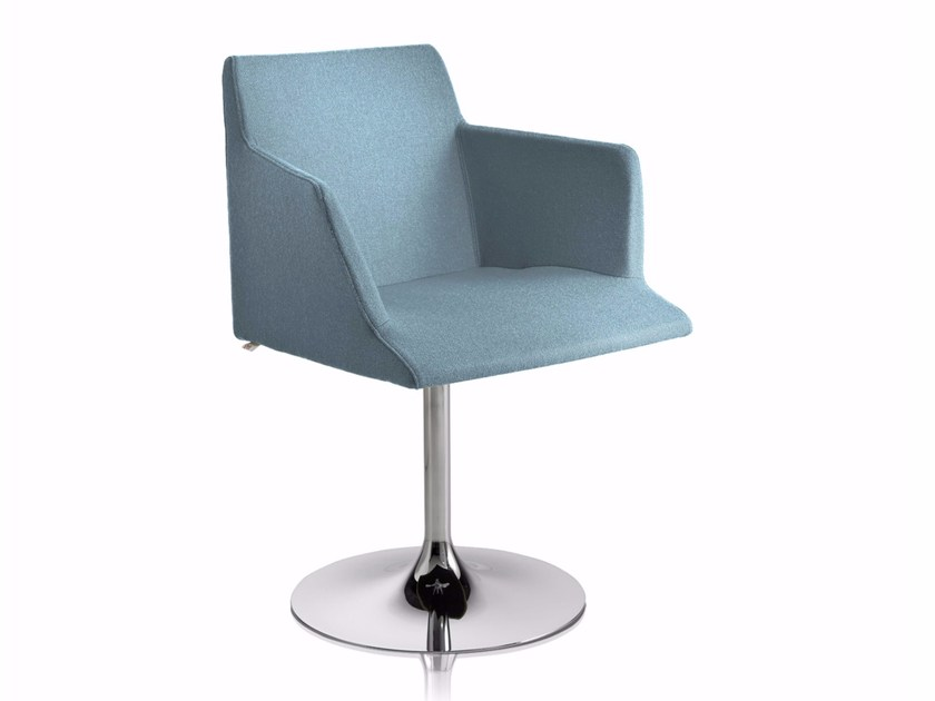 Swivel chair with armrests BLOOM T-P by CHAIRS & MORE