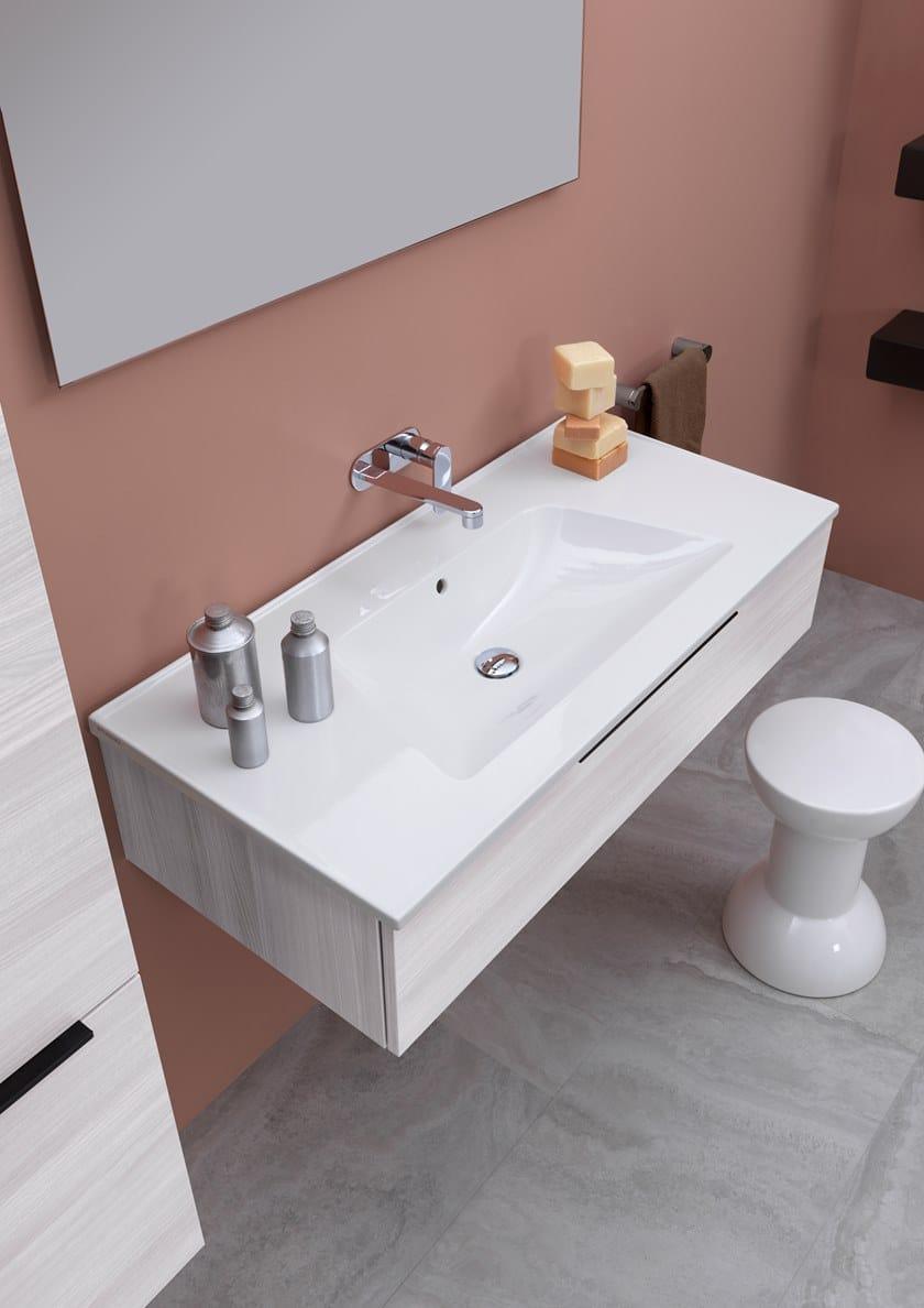 Salle De Bain Sol Effet Parquet ~ Bloom Lavabo Collection Bloom By Ceramica Flaminia Design