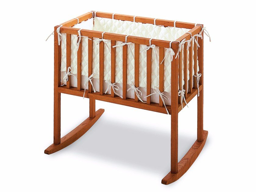 Rocking wooden cradle BLOOMINGTON | Rocking cradle by Riva 1920