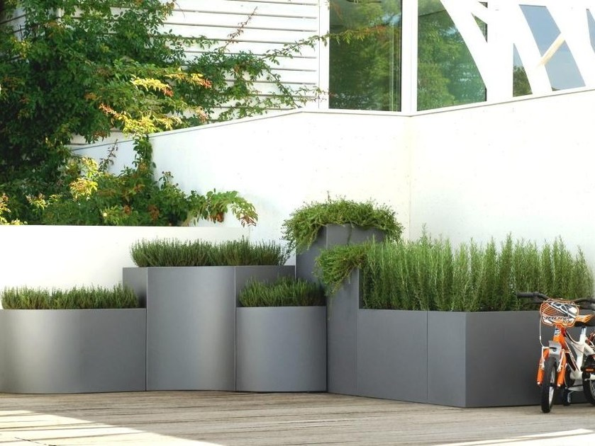 Modular stainless steel planter BLOSS by BLOSS