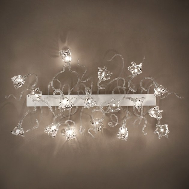 Contemporary style LED handmade glass wall lamp BLOSSOM | Glass wall lamp by MULTIFORME