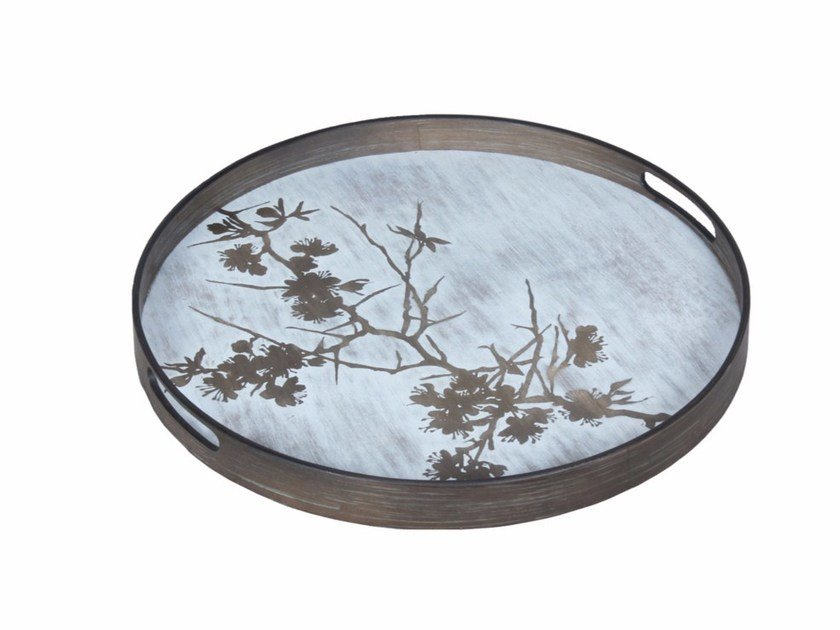Round wooden tray BLOSSOM by Notre Monde