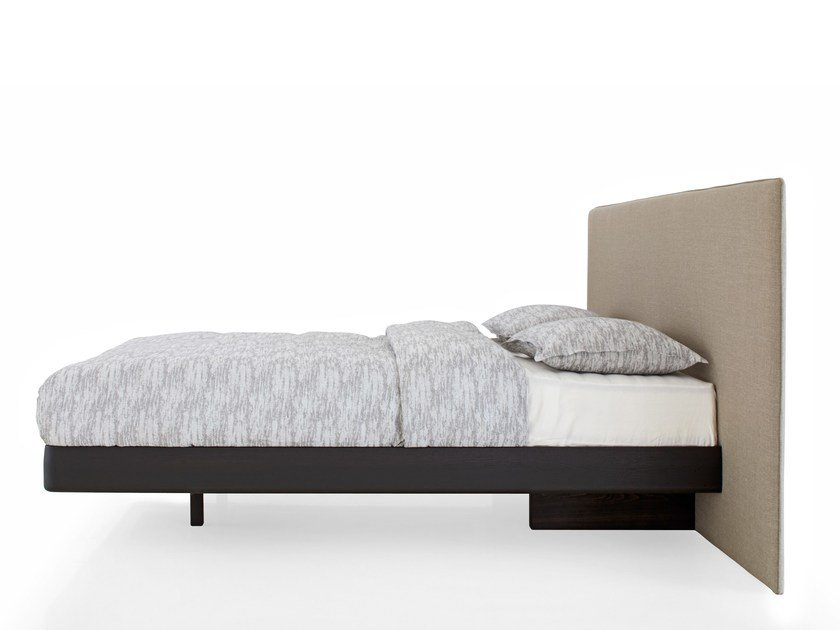 Double bed with upholstered headboard BLOW | Bed by more