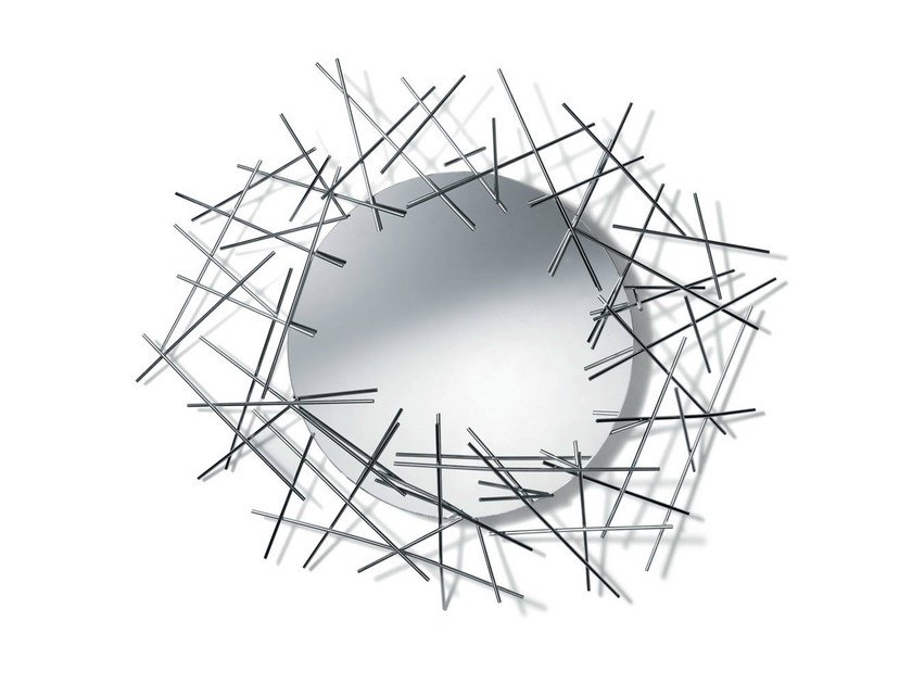 Round wall-mounted mirror BLOW UP | Mirror by Alessi