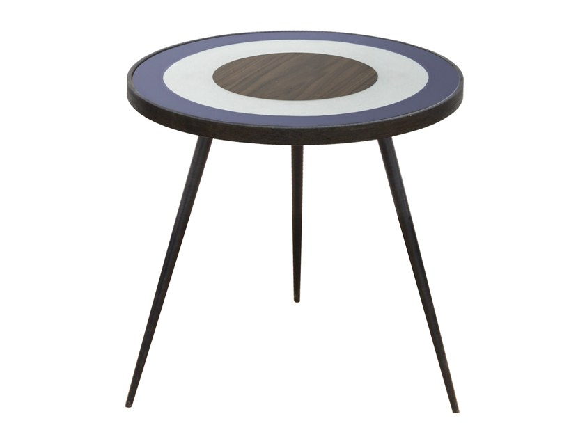 Round side table BLUE BULLSEYE SIDE TABLE by Notre Monde
