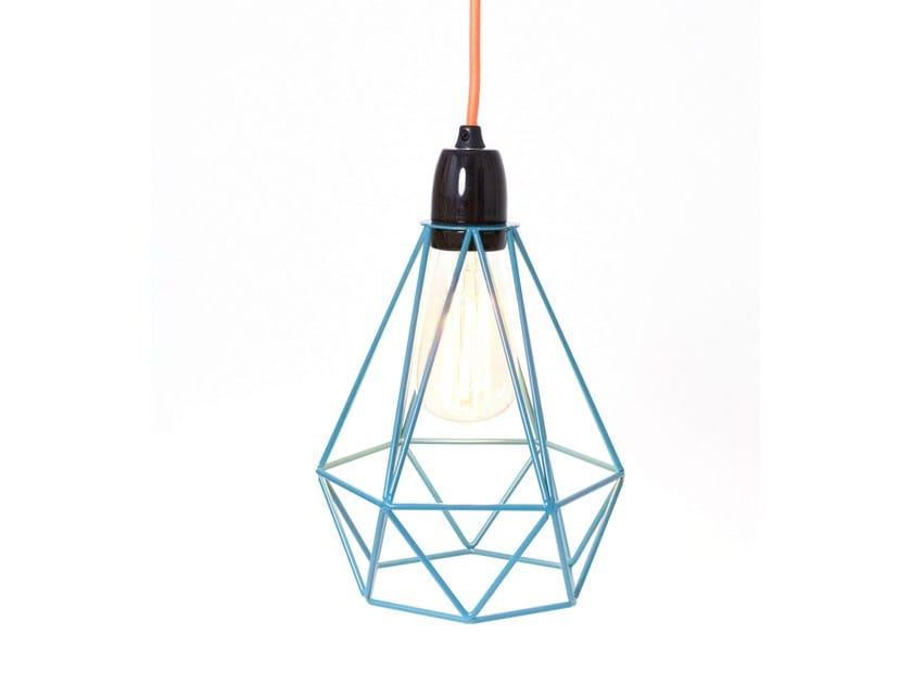 Metal pendant lamp table lamp blue cage orange fabric wire metal pendant lamp table lamp blue cage orange fabric wire by filamentstyle greentooth Images