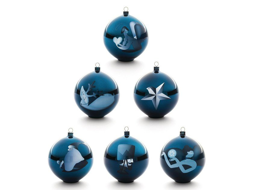 Blown glass Christmas ornaments BLUE CHRISTMAS | Christmas ornaments by Alessi