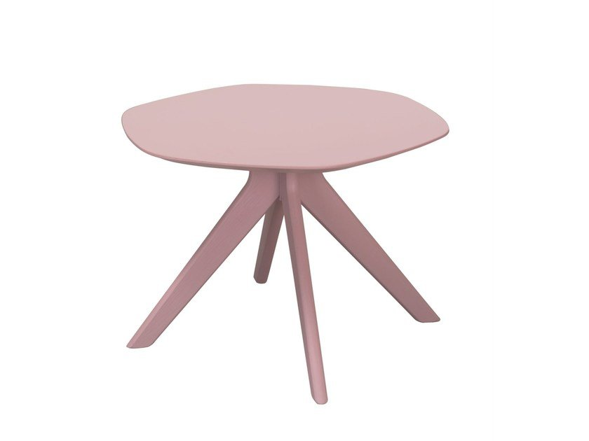 Lacquered round coffee table BLUE | Coffee table by Palau