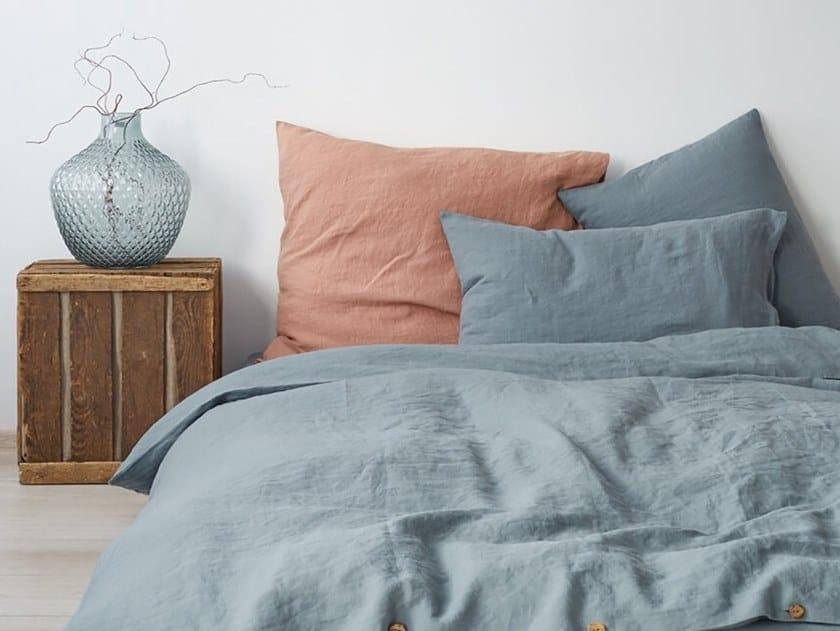 Washed linen Bed Set BLUE FOG | Bedding set by Linen Tales