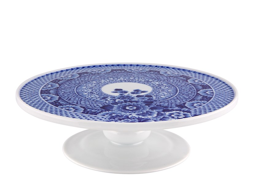 Round porcelain etagere BLUE MING | Round tray by Vista Alegre