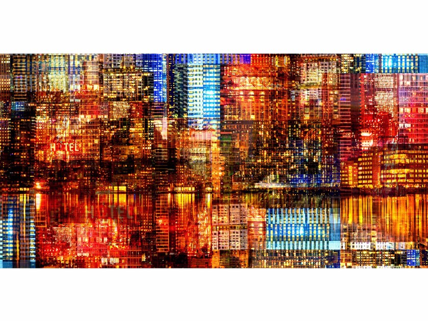 Photographic print BLUE RED NIGHT - FINE ART PHOTOGRAPHY by 99 Limited Editions