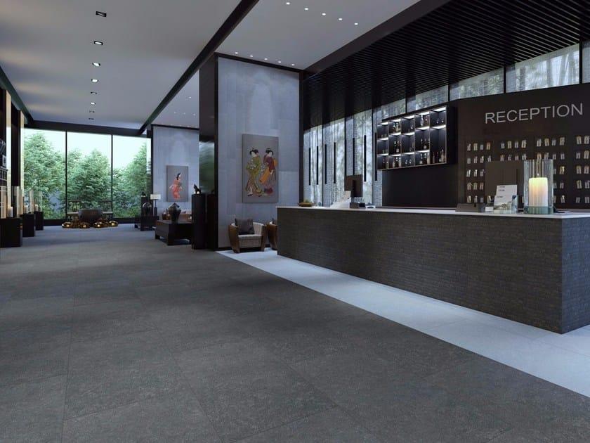 Ceramic granite flooring with stone effect BLUE STONE by ESTIMA CERAMICA