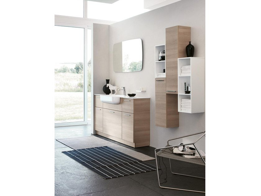 Mobile lavabo da terra con specchio BLUES 06 by BMT