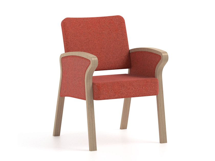 Fabric chair with armrests BLUES | HEALTH & CARE | Fabric chair by PIAVAL