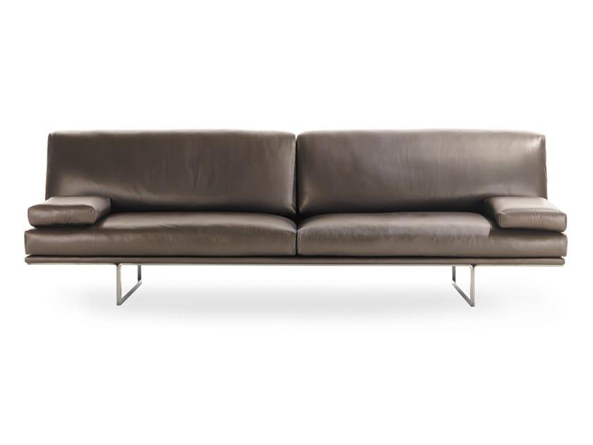 Leather sofa BLUMUN by Busnelli