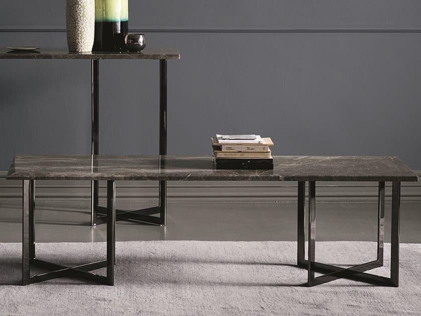 Tavolino rettangolare in marmo BLUNT   Tavolino rettangolare by Bodema