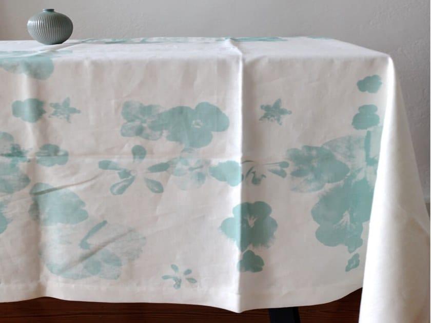 Linen tablecloth BLUTENMIX   Tablecloth by Birgit Morgenstern Studios