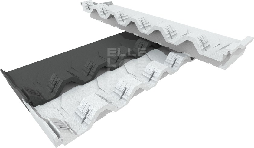 Thermal insulation panel BLUTILE COPPO by ELLE ESSE