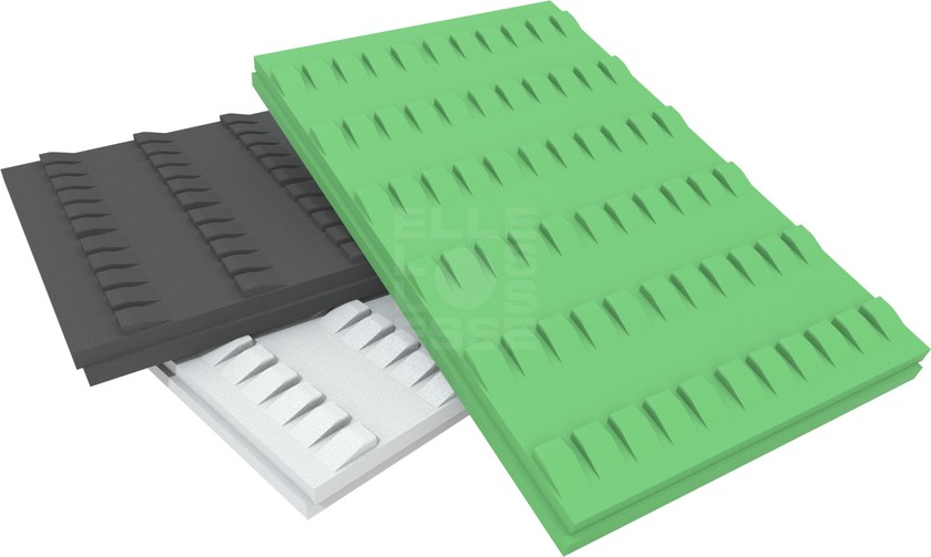 EPS thermal insulation panel BLUTILE TEGOLA by ELLE ESSE