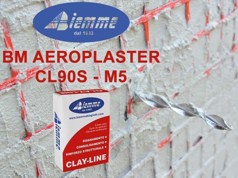Fibre reinforced mortar BM AEROPLASTER CL90S - M5 by Biemme