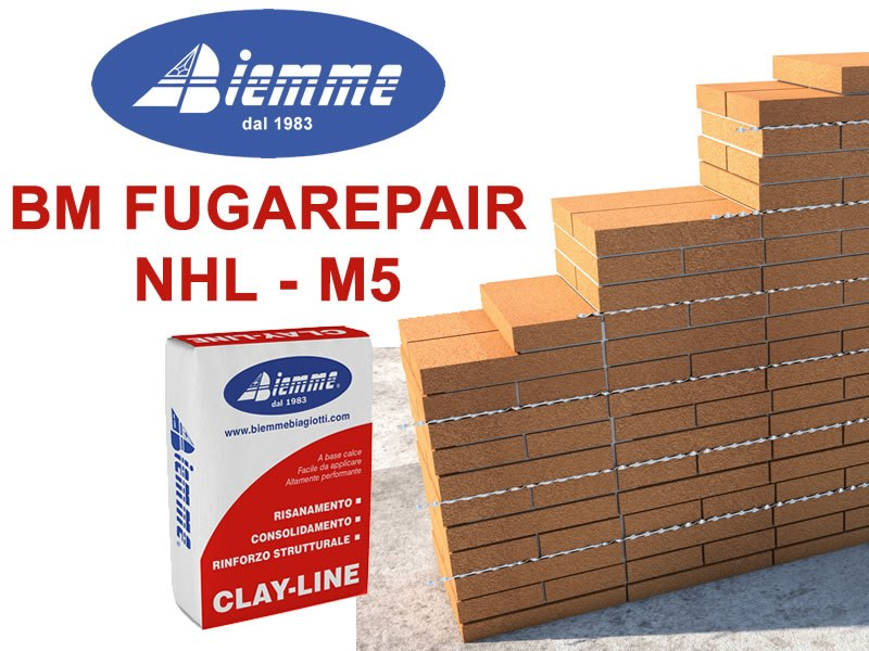 Mortar and grout for renovation BM FUGAREPAIR NHL - M5 by Biemme