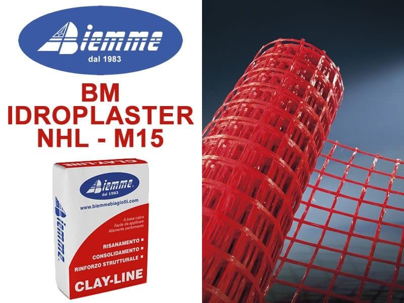 Fibre reinforced mortar BM IDROPLASTER NHL - M15 by Biemme