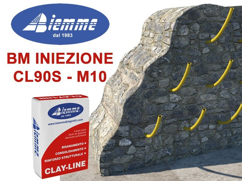 Renovation mortar and grout for renovation BM INIEZIONE CL90S - M10 by Biemme