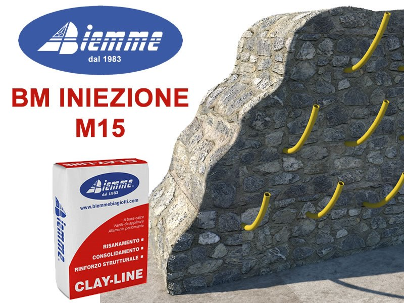 Renovation mortar and grout for renovation BM INIEZIONE - M15 by Biemme