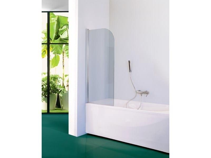 Glass bathtub wall panel BMR02 | Bathtub wall panel by INDA®