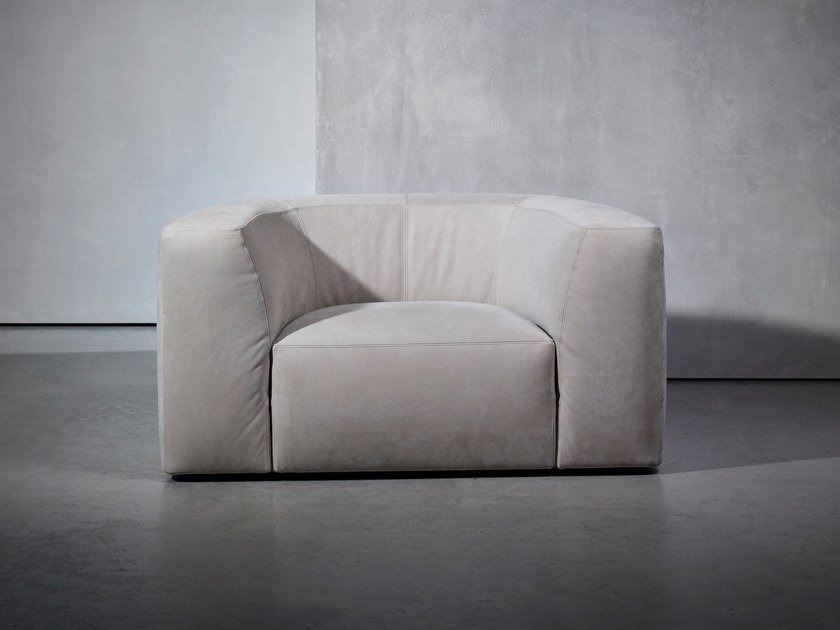 Upholstered armchair with armrests BO LIVING | Armchair by Piet Boon