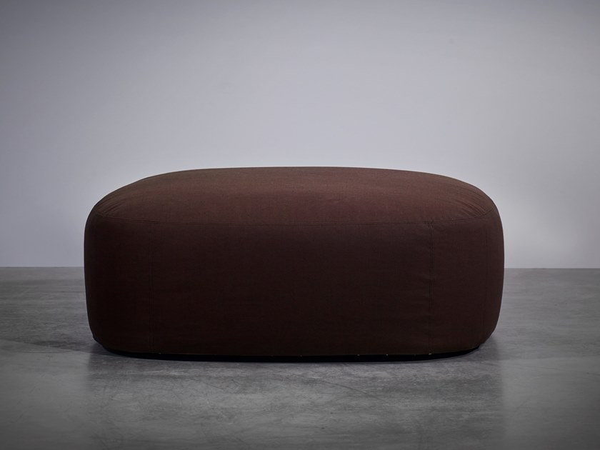 Upholstered fabric pouf BO LIVING | Pouf by Piet Boon