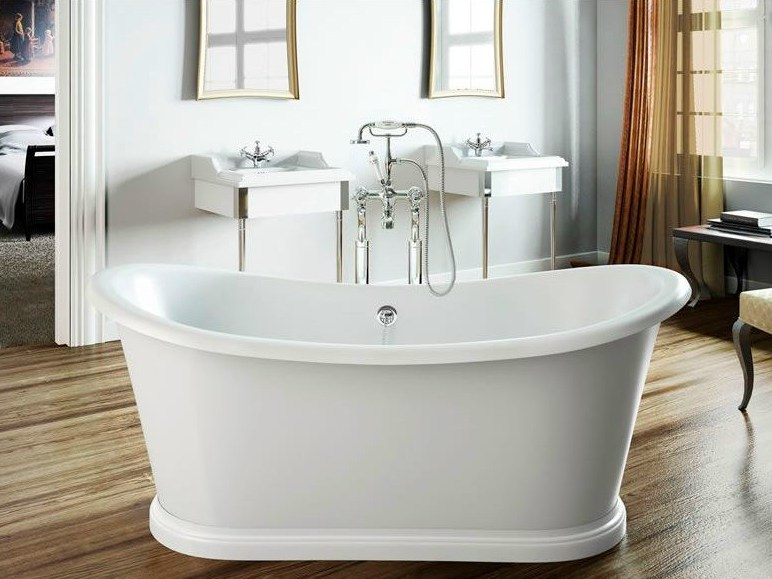 Freestanding oval bathtub BOAT 165 by Polo