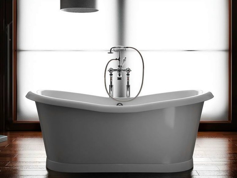 Freestanding oval bathtub BOAT 180 by Polo