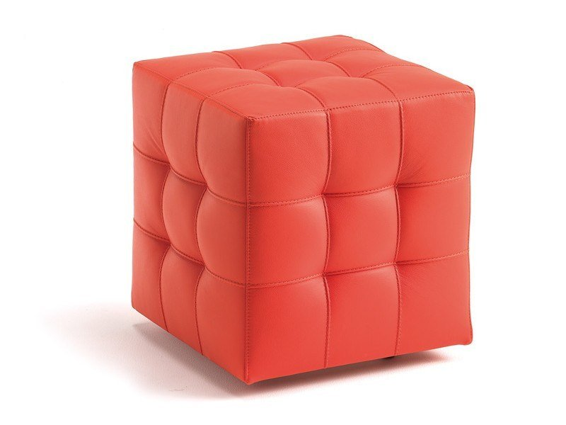 Upholstered pouf with casters BOB by Cattelan Italia