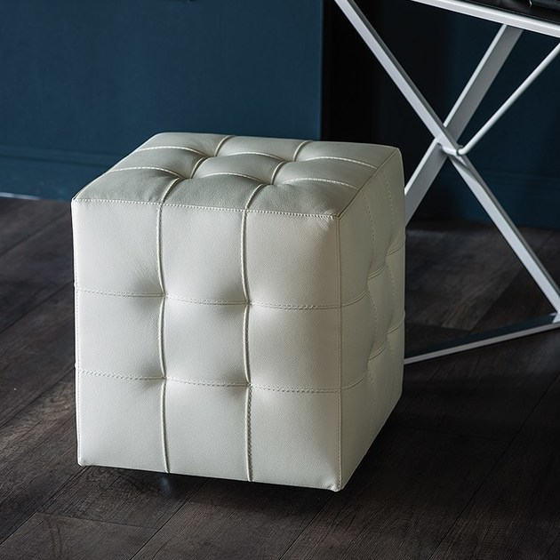 upholstered pouf with casters bob by cattelan italia design paolo cattelan. Black Bedroom Furniture Sets. Home Design Ideas