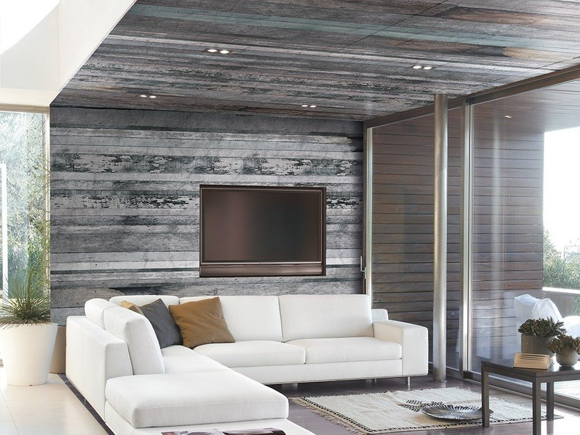 Wood effect wallpaper BOBOIS by Adriani e Rossi edizioni