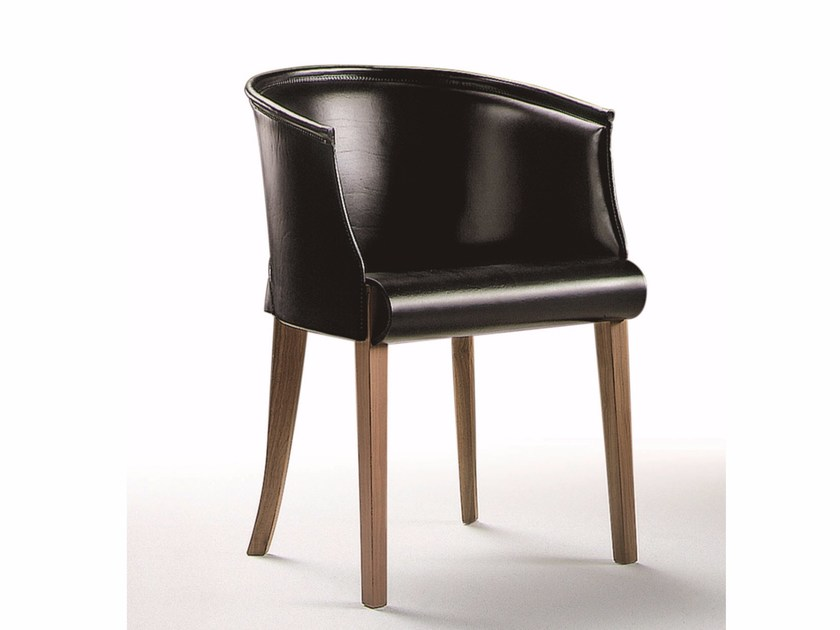Leather small armchair BODY by FLEXFORM