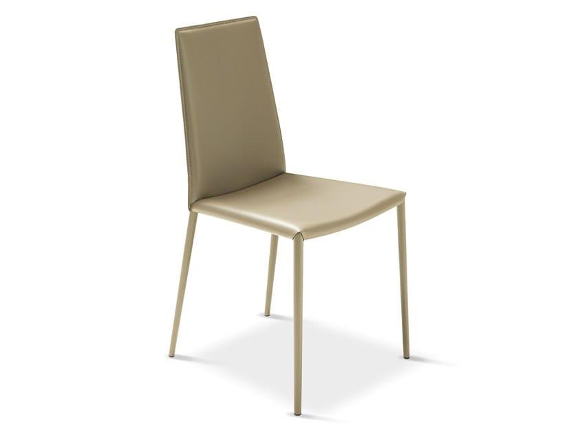 Tanned leather chair BOEMIA | Chair by Febal Casa