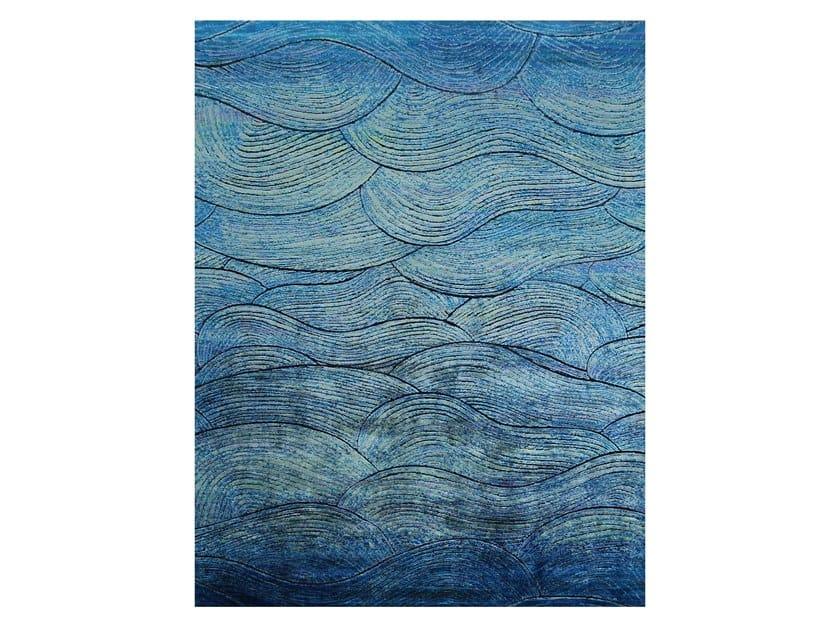 Handmade rectangular rug BOHEMIAN DAWN by EBRU