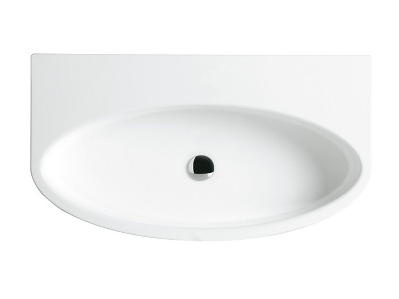 Oval wall-mounted ceramic washbasin BOING 80 | Wall-mounted washbasin by GSG Ceramic Design