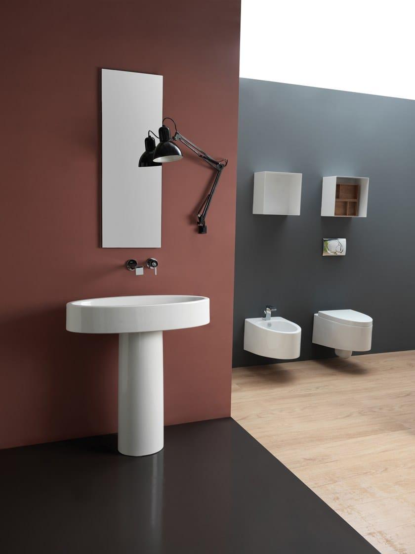 Lavabo A Colonna Design colonna per lavabo in ceramica like | colonna per lavabo