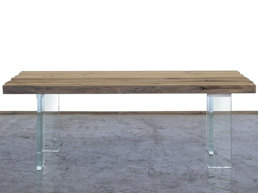 Rectangular reclaimed wood dining table BOITE by A&B Rosa dei Legni
