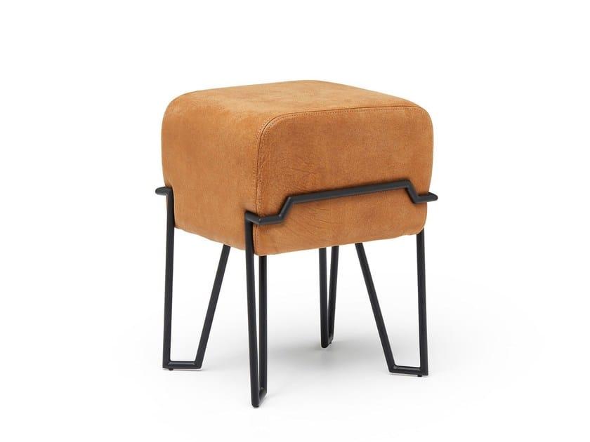 Leather stool BOKK | Leather stool by Puik